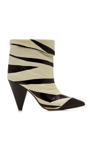 Leebu Striped Leather Boots
