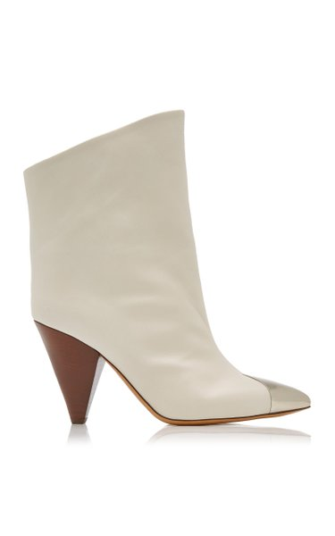 Lapee Leather Toecap Ankle Boots