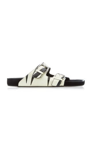 Lennyo Printed Leather Sandals