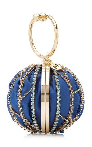 Alice Crystal-Embellished Silk Top Handle Bag