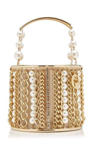 Olivia Embellished Brass Bucket Bag