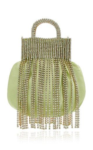 Follie Fringed Satin Mini Bag