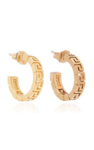 Greca Gold-Plated Hoop Earrings