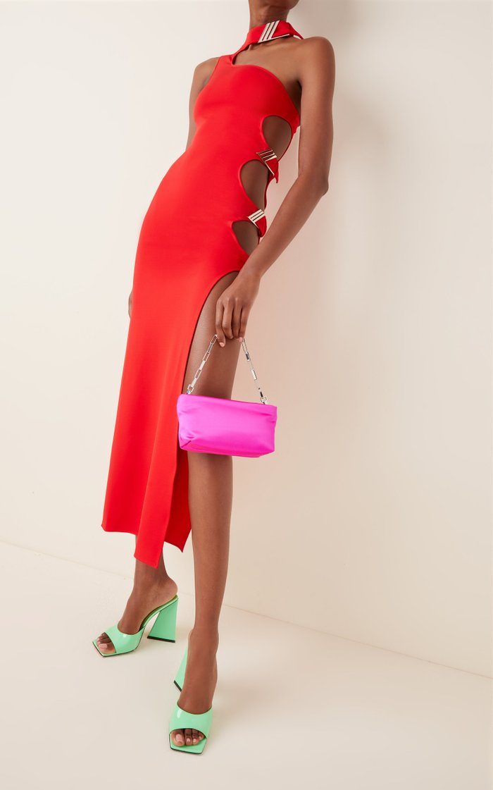 Small Satin Pouch Clutch
