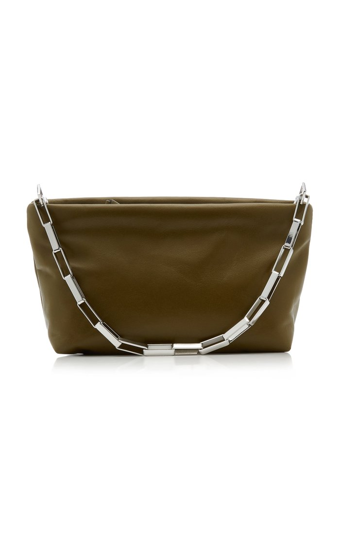Small Leather Pouch Clutch