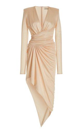 Draped Crystal-Embellished Jersey Dress