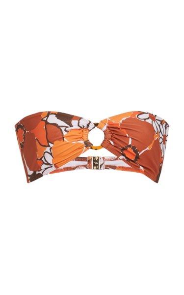 Malady Ring-Detailed Bandeau Bikini Top