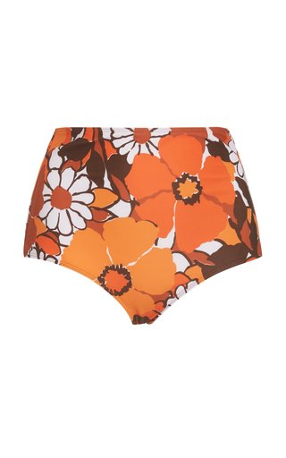 Marina Printed High-Rise Bikini Bottom