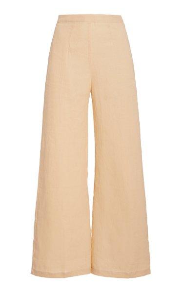 Sibyl High-Rise Linen Wide-Leg Pants