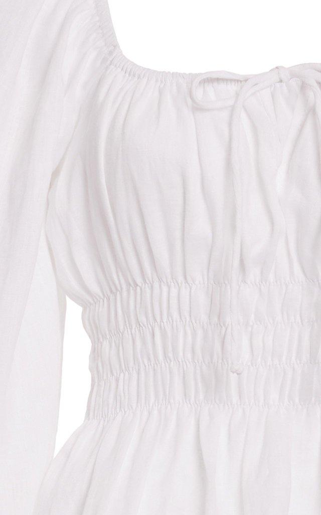 Bellano Smocked Linen Top