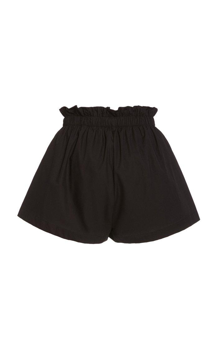 Shelby Cotton Poplin Drawstring Shorts