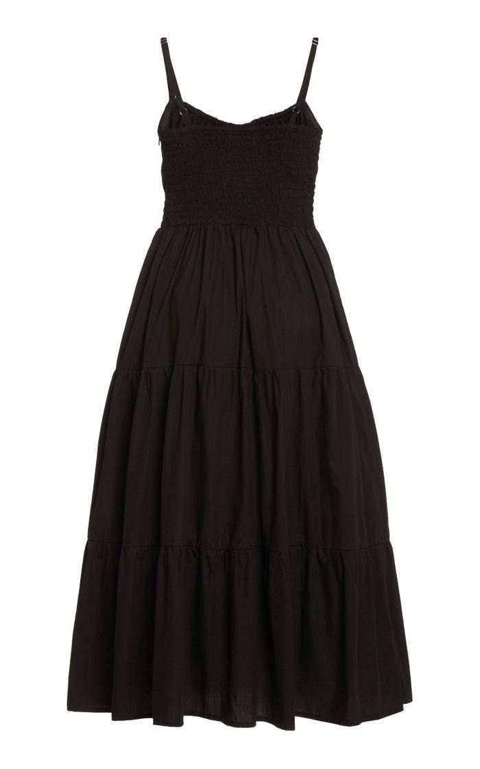 Alexia Tiered Cotton Poplin Midi Dress