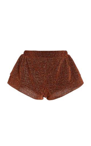 Lumière Metallic Mini Shorts