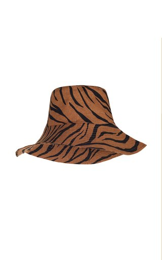 Bettina Kenya Print Linen Bucket Hat