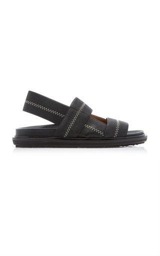 Stretch-Leather Sandals