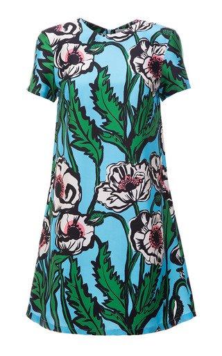 Mini Swing Floral Silk Dress