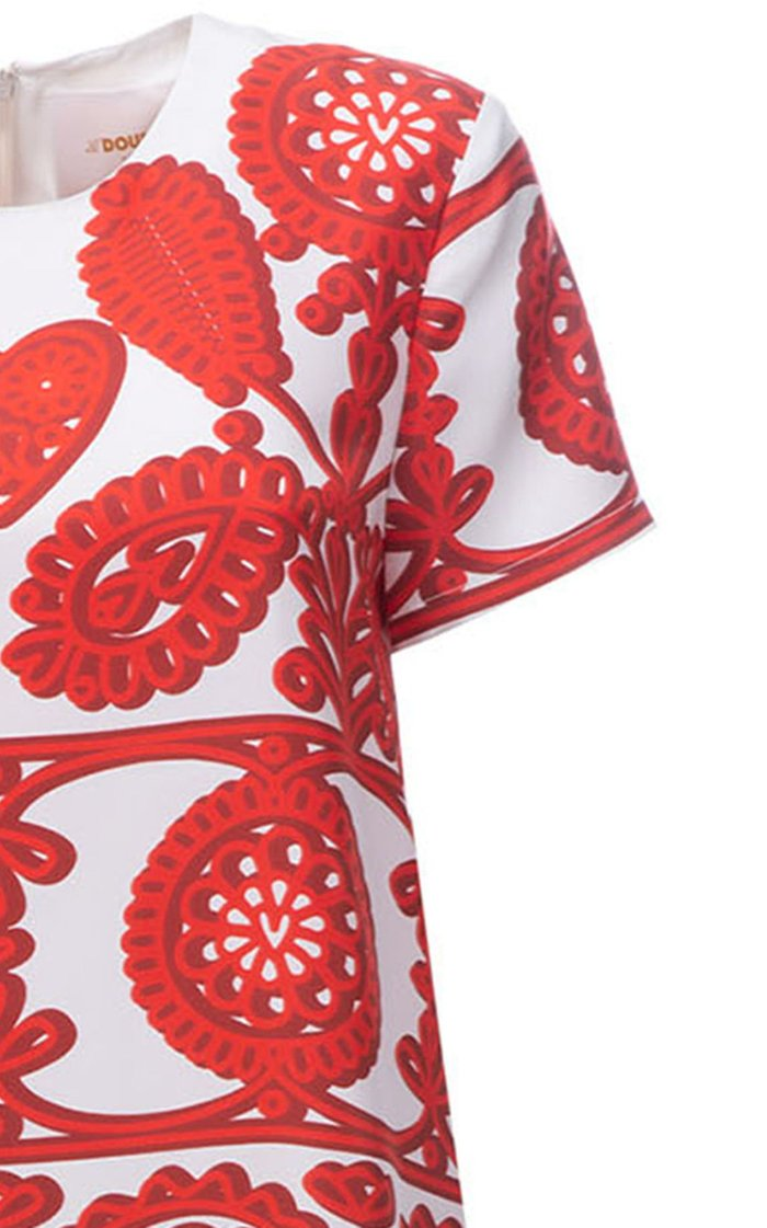 Mini Swing Printed Silk Dress