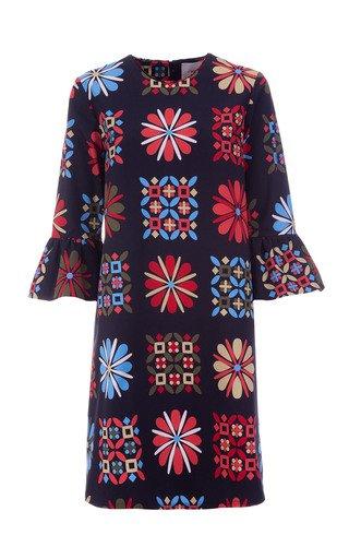 24/7 Printed Cotton Mini Dress