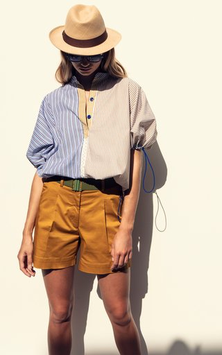 Solana Mixed-Stripe Cotton Top