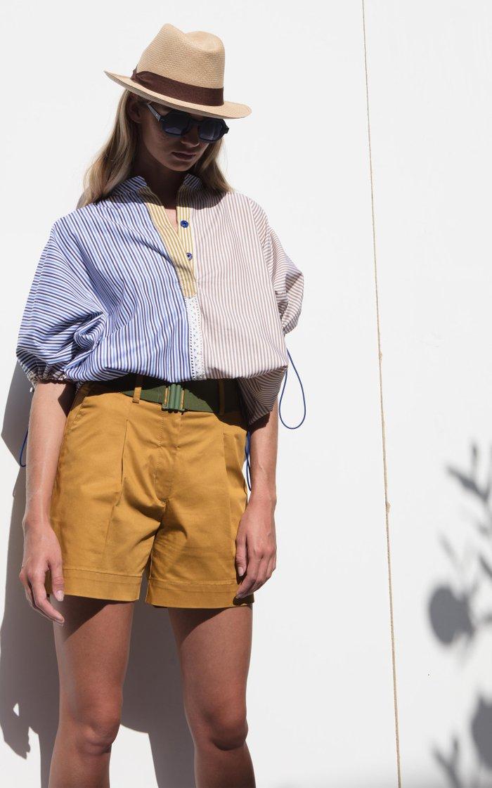 Solana Mixed-Stripe Cotton Top