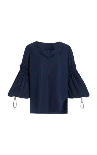 Lucaya Puff-Sleeve Cotton Top