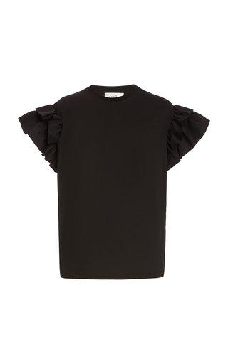 Ruffle Organic-Cotton T-Shirt