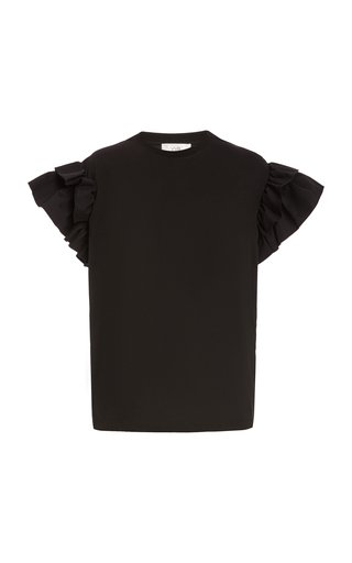 Ruffle Organic-Cotton T-Shirt