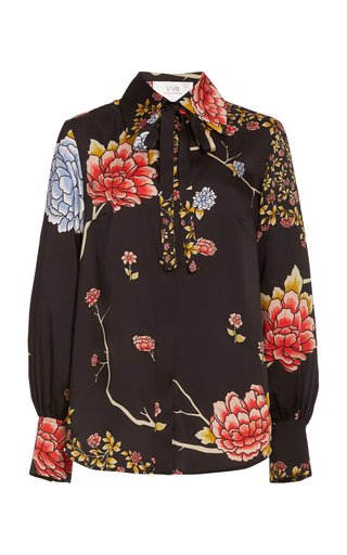 Floral-Printed Recycled-Twill Shirt