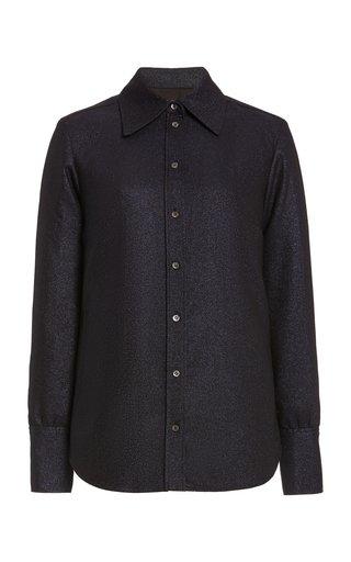 Lurex Button-Down Shirt