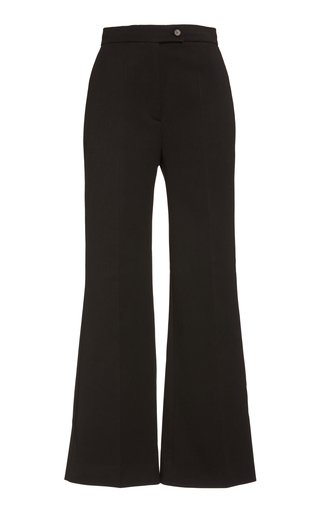 Stretch Crepe Flared Pants