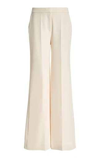 Stretch Crepe Wide-Leg Trousers