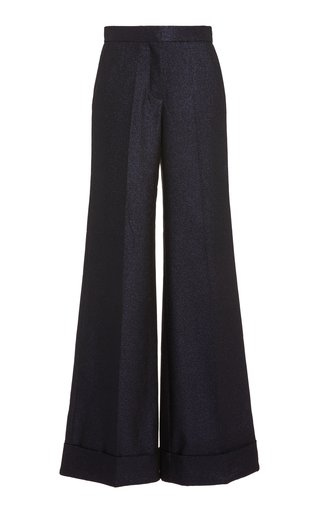 Lurex Wide-Leg Pants