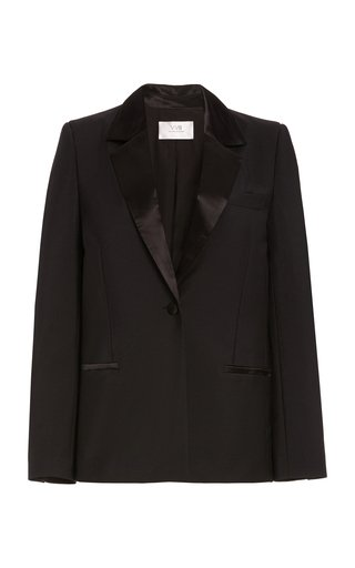 Wool-Mohair Tuxedo Blazer