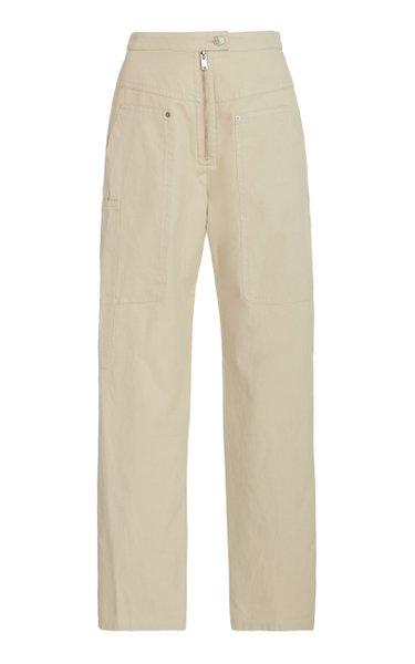 Phil Cotton-Blend Straight-Leg Pants