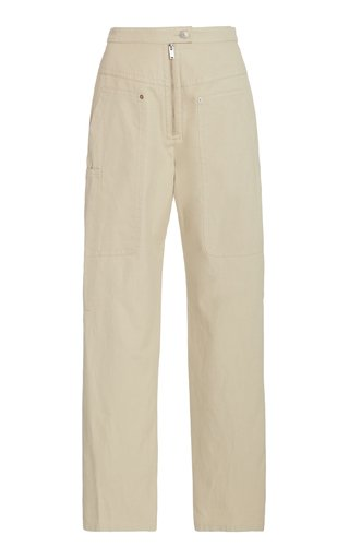 Phil Cotton-Blend Straight-Leg Pants