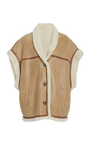 Adelia Oversized Shearling Vest