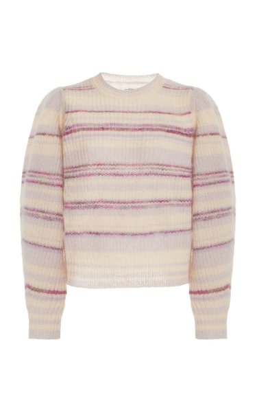 Eleonore Striped Mohair-Knit Sweater