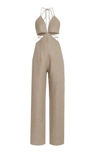 Cutout Linen Jumpsuit