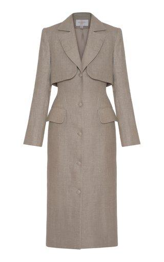 Cutout Linen Coat