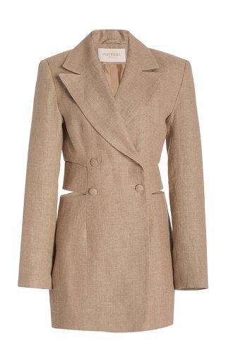 Cutout Linen Mini Blazer Dress
