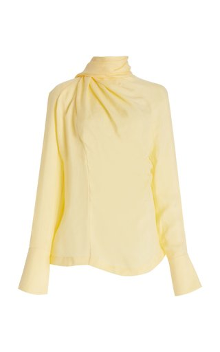 Scarf-Neck Crepe Top