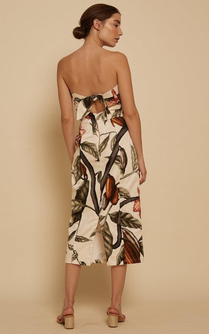 Dense Jungle Printed Organic Cotton Midi Dress