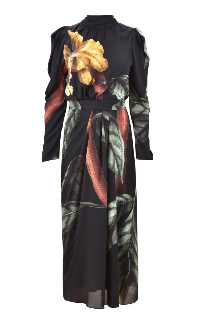 Meaningful Opportunity Printed Georgette Midi Dress