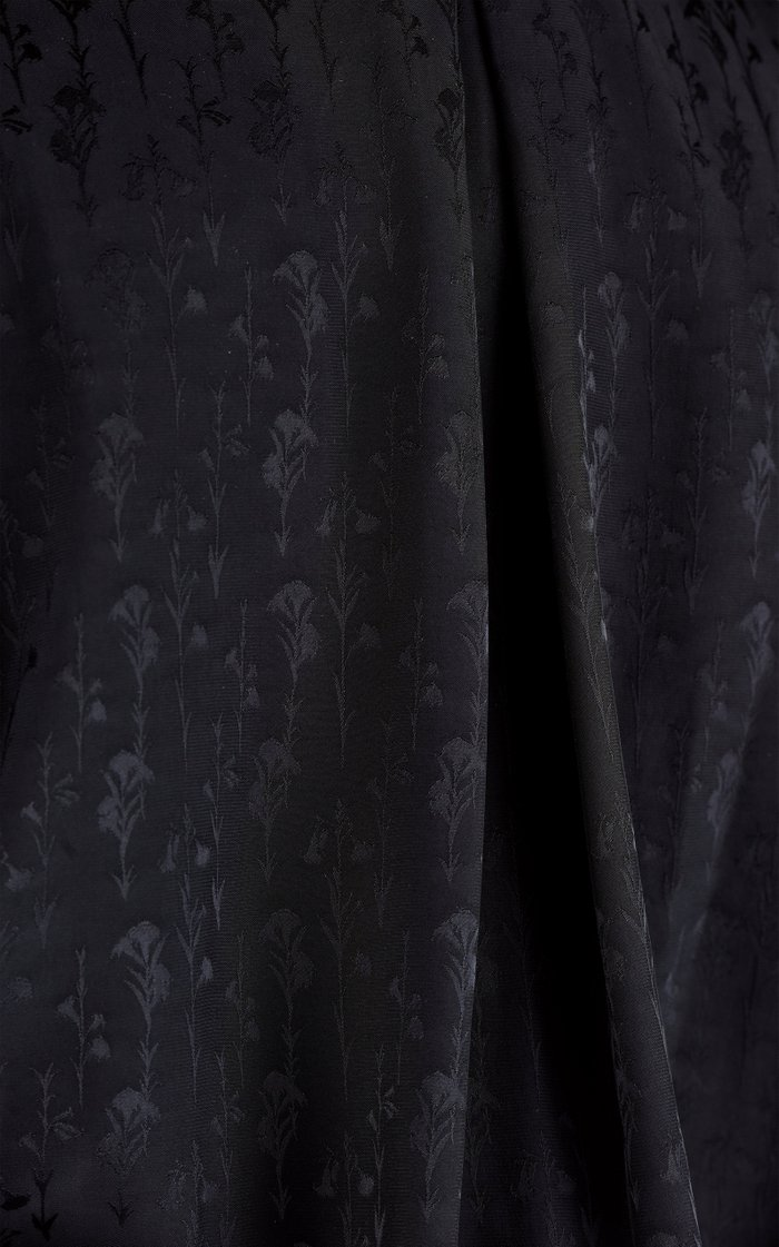 Splendid Isolation Tie-Front Jacquard Jumpsuit
