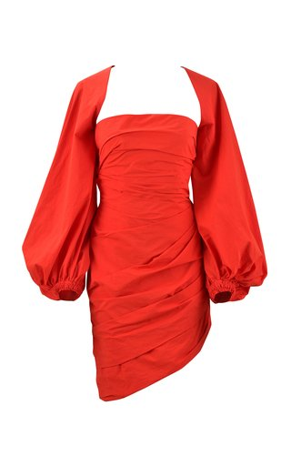 Immerse Yourself Ruched Cotton Mini Dress