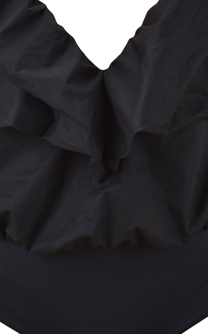 Foreign Pleasure Ruffled Cotton Bodysuit