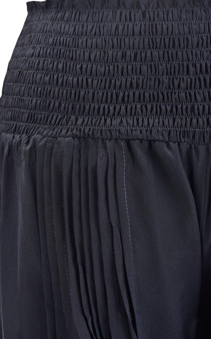 Last Frontier Smocked Silk Pants