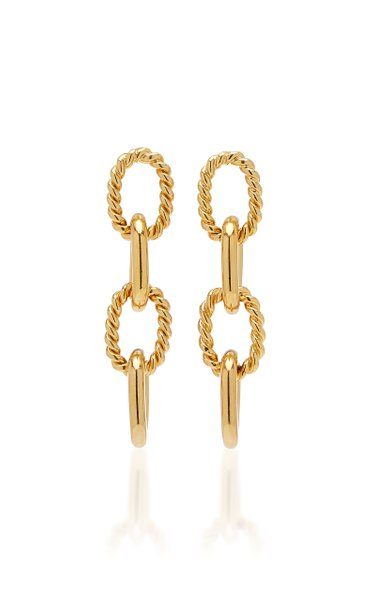 Twisted Chain Gold-Plated Earrings