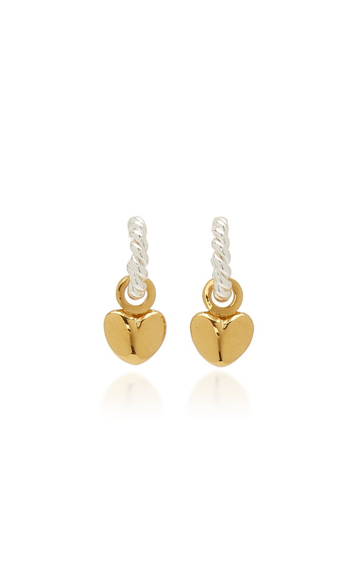 Twisted Sterling Silver and Gold-Plated Earrings