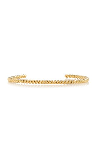 Twisted Gold-Plated Cuff